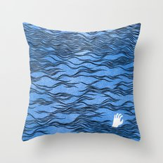 Man & Nature - The Dangerous Sea Throw Pillow