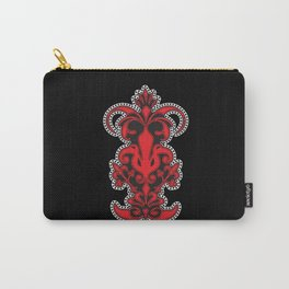 Tribal Elephant Design Black Carry-All Pouch