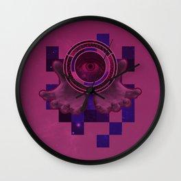 weird eye , hand , space thing ? Wall Clock