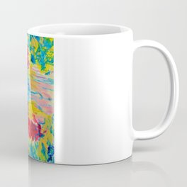 TUTTI FRUTTI - Fruit Punch Floral Bouquet Flowers Bright Bold Colorful Painting Romantic Rainbow Coffee Mug