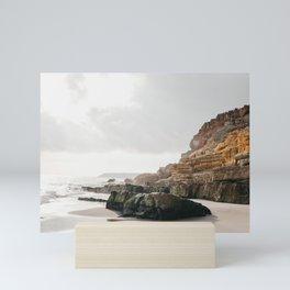 Glistening sea & Rocky Algarve Beach   Southern Portugal sunset, iconic travel photography, Saige Ashton Prints Mini Art Print