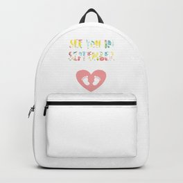 Womens Pregnancy Announcement design Due September 2019 Backpack