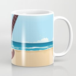 Mexican Guitar travel poster Coffee Mug