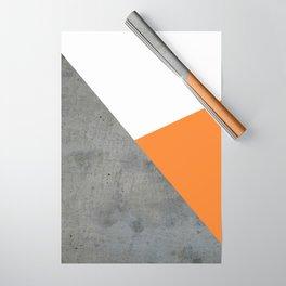 Concrete Tangerine White Wrapping Paper