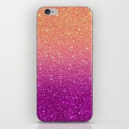 Ombre glitter #10 iPhone Skin