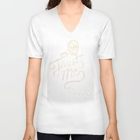 tequila V-neck T-shirts featuring Trust Me - Tequila - Lettering by Cale LeRoy