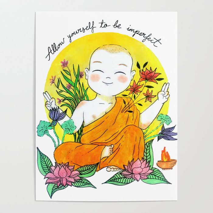 The Buddhist Monk Poster