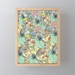 Nature Bloom Pattern Framed Mini Art Print