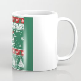 DACHSHUND THROUGH THE SNOW Coffee Mug