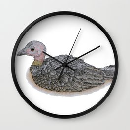 Resting Brush Turkey Wall Clock