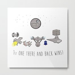 The Great Space Race Metal Print