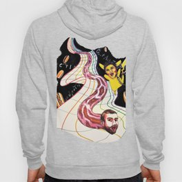 Snake-man and friend in hyper-dimensional curved spacetime Hoody