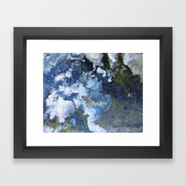 Abstract Nature Acrylic Pour Framed Art Print