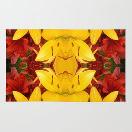 """""""A Gathering of Lilies"""" Remix - 4 (4-1) [D4469~57] Rug"""