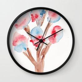 23  | Loose Watercolor Flower | 191015 Wall Clock