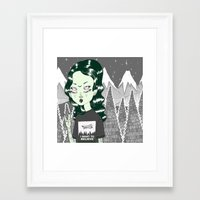 loll3 Framed Art Prints featuring ☽ ZELINA ☾ by lOll3