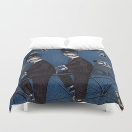 Two Men Travelling Duvet Cover