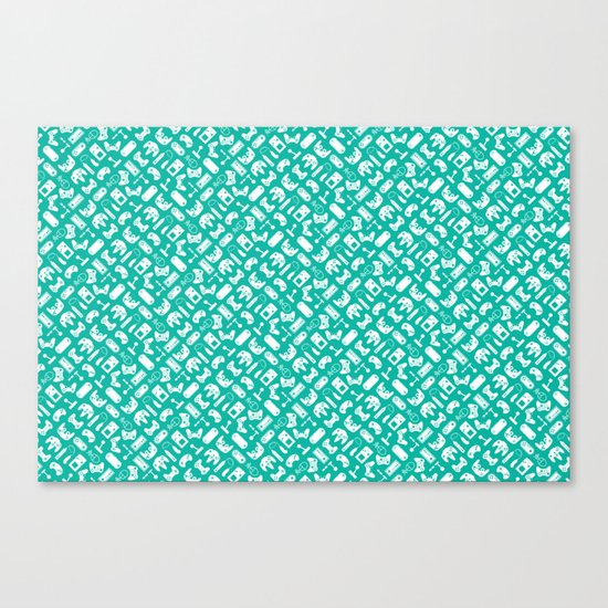 Control Your Game - Turquoise Canvas Print