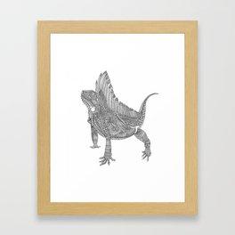 Iguana Xamânica Framed Art Print
