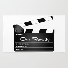 Our Family Clapperboard Rug