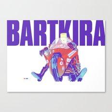 Bartkira on Motorcylce Canvas Print