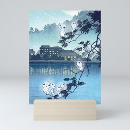 Kodama, Forest spirits vintage japanese woodblock mashup Mini Art Print