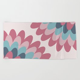 Dahlia at Bedroom Beach Towel