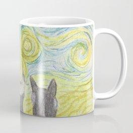 Stary Night Cats Coffee Mug