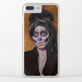 Winehouse Day of The Dead Clear iPhone Case