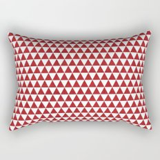 triangles - red and white Rectangular Pillow
