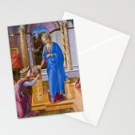 """Fra Filippo Lippi """"Annunciation with two Kneeling Donors"""" Stationery Cards"""