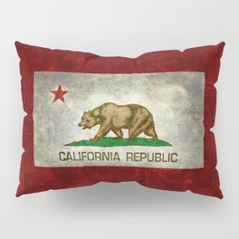 California Republic state flag Vintage Pillow Sham
