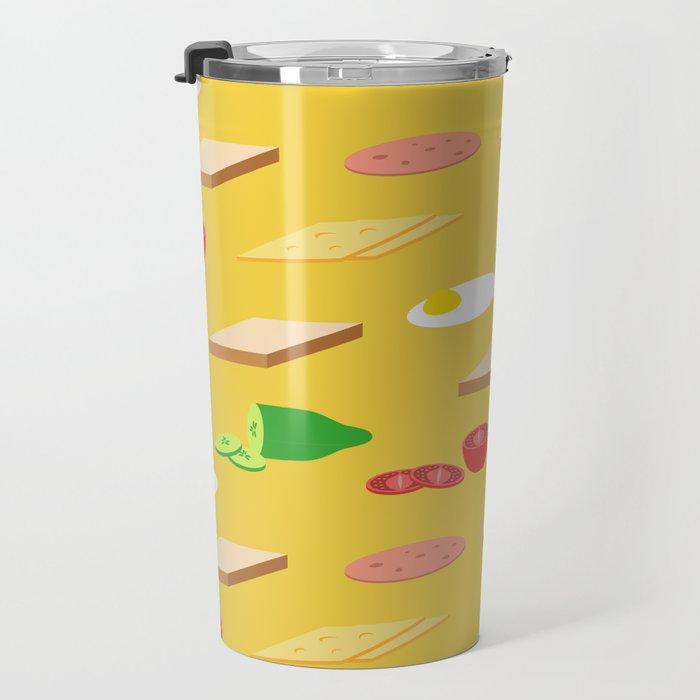 Breakfast Pattern Travel Mug