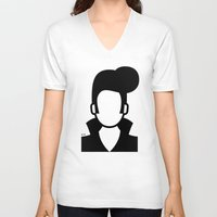 elvis V-neck T-shirts featuring Elvis by triangle.cross