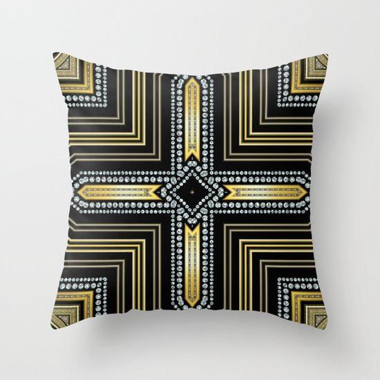 Diamond Gold Simply Glam Throw Pillow