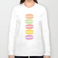 macaroons Long Sleeve T-shirts featuring Lovely Macaroons by JulepDesignCo