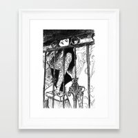 cage Framed Art Prints featuring cage by Albert Wint