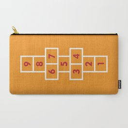 Hopscotch Orange Carry-All Pouch