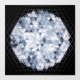 Triangel Diamonds Cut Canvas Print