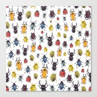 bugs Canvas Prints featuring Bugs by Marina Eiro