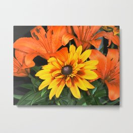Flowers Tiger Lilies Metal Print