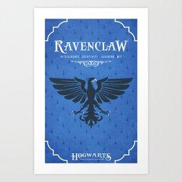 Ravenclaw House Poster Art Print