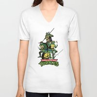 tmnt V-neck T-shirts featuring TMNT by Neal Julian