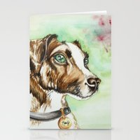 jack russell Stationery Cards featuring Jack Russell Terrier by lauramaahs