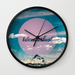 Wanderlust Mountain Wall Clock