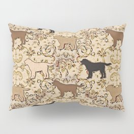 Labs of chocolate, blonde, and black Pillow Sham