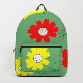 red and yellow coreopsis Backpack