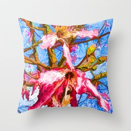 Tropical Flowers Design Throw Pillow