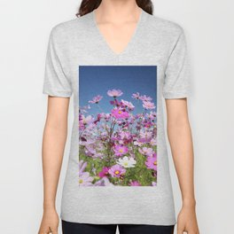 Cosmos Flowers Unisex V-Neck