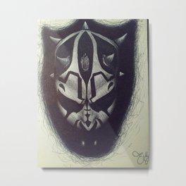 Darth Maul pen drawing Metal Print